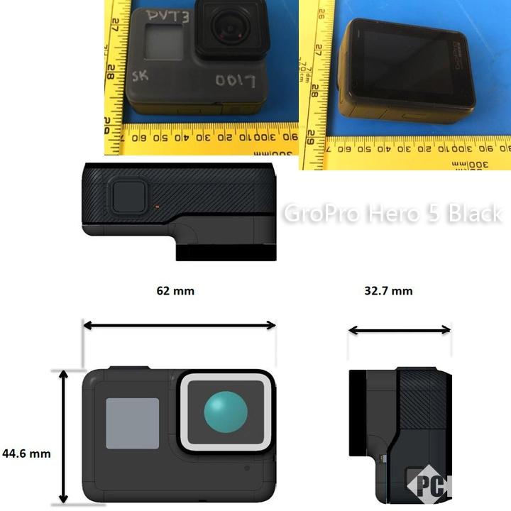GoPro Hero 5外观谍照及部分规格曝光