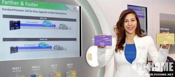 三星SDI展示新款车载电池 20分钟充80%