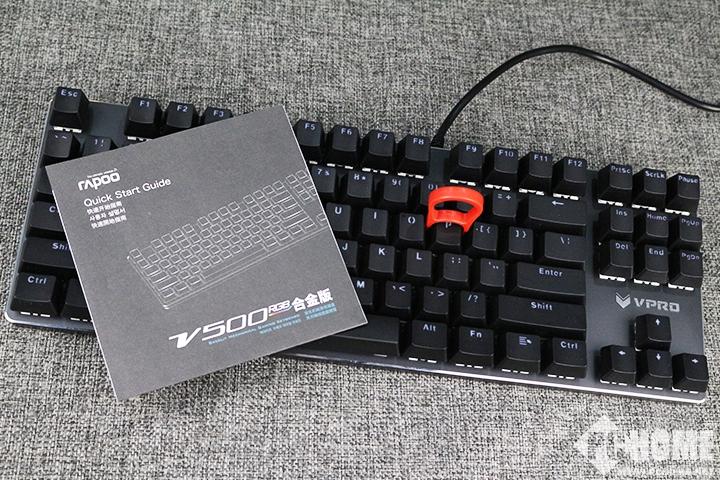 耀世来袭 雷柏V500RGB合金版机械键盘评测