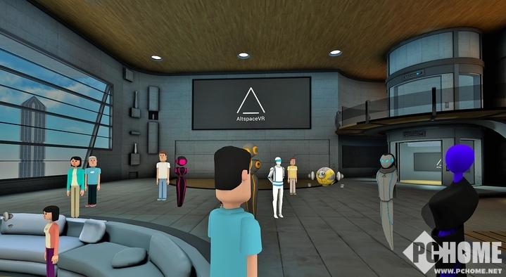装载AltspaceVR应用 无需头显也能VR社交