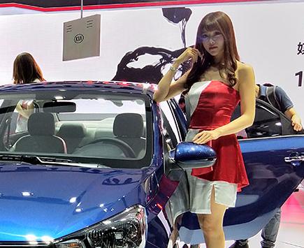 OPPO R11s看展台 广州车展美女新车集锦