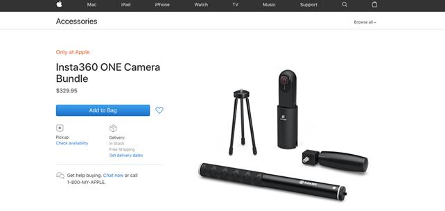 Insta360入驻苹果直营店 获走向全球最好名片