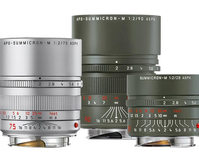 徕卡推出三款M卡口新镜头 两款橄榄绿限量发售